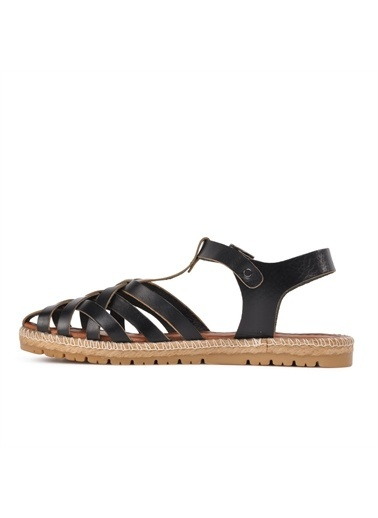 Castle Black R10028 Siyah Kadın Sandalet Siyah